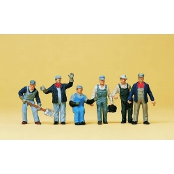 Preiser 10453 Figurines HO 1/87 Personnel Train de Marchandises USA