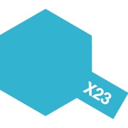 TAMIYA 81523 Peinture Acrylique X-23 Bleu Transparent / Clear Blue 23ml