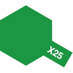 TAMIYA 81525 Peinture Acrylique X-25 Vert Transparent / Clear Green 23ml