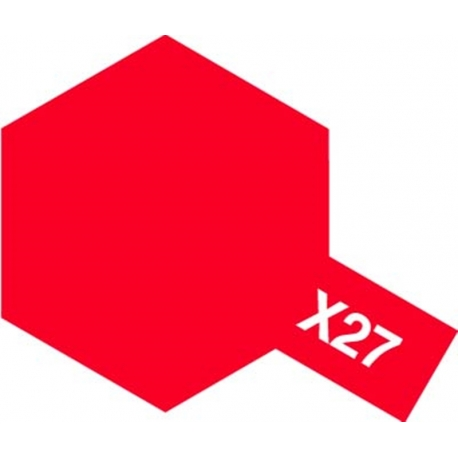 TAMIYA 81527 Peinture Acrylique X-27 Rouge Transparent / Clear Red 23ml