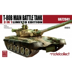 Modellcollect UA72041 1/72 T-80B Main Battle Tank 3 in 1 Limited Edition