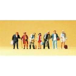 Preiser 10400 Figurines HO 1/87 Voyageurs Debouts pour Bus et Train