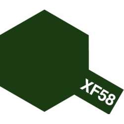 TAMIYA 81358 Peinture Acrylique 23ml XF-58 Vert olive Foncé / Olive Green