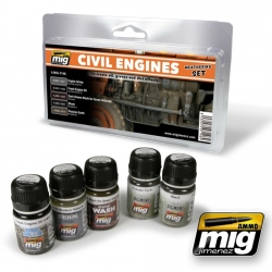 AMMO OF MIG A.MIG-7146 Civil Engine Weathering Set