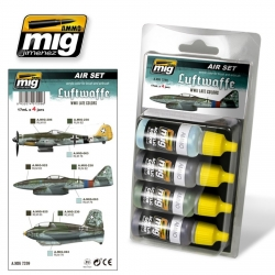 AMMO OF MIG A.MIG-7209 Acrylic Color Luftwaffe WWII Late Colors 4x17ml