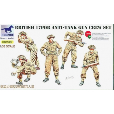BRONCO CB35087 1/35 British 17pdr Anti-Tank Gun Crew Set