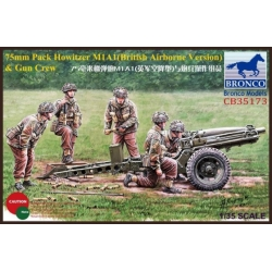 BRONCO CB35173 1/35 75mm Pack Howitzer M1A1 British Airborne Version W/Crew