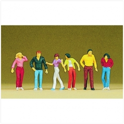 Preiser 10118 Figurines HO 1/87 Walking passers-by