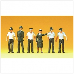 Preiser 10371 Figurines HO 1/87 Policemen.Great Britain