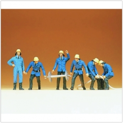 Preiser 14204 Figurines HO 1/87 Firemen