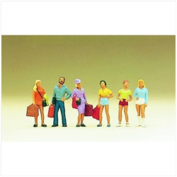 Preiser 10123 Figurines HO 1/87 Passengers, teenagers