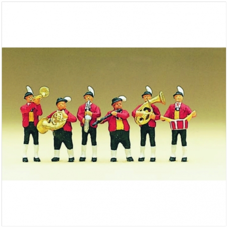 Preiser 10207 Figurines HO 1/87 Tyrolese band in national costume 2