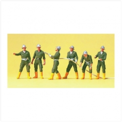 Preiser 10230 Figurines HO 1/87 Firemen. Austria.