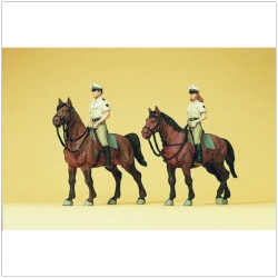 Preiser 10389 Figurines HO 1/87 Police on horseback. Germany