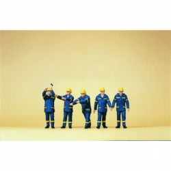 Preiser 10432 Figurines HO 1/87 THW. Operation suit 1999