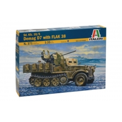 ITALERI 0371 1/35 Sd. Kfz.10/5 Demag D7 with FLAK 38