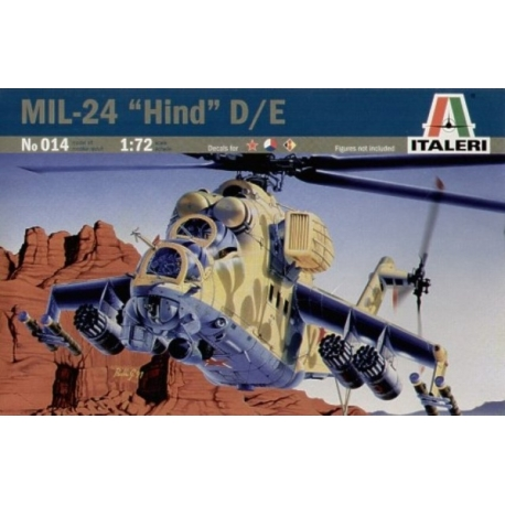 ITALERI 14 1/72 Mil-24 Hind-D Soviet Attack Helicopter