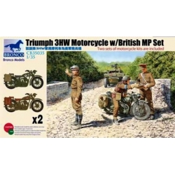 BRONCO CB35035 1/35 Triumph 3HW Motorcycle w/MP Figure Set