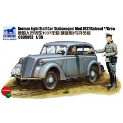 BRONCO CB35052 1/35 German Light Staff Car Stabswagen Mod.1937 (Saloon) w/crew (2 figures)