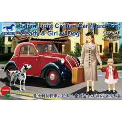 BRONCO CB35167 1/35 Italian Light Civilian Car (Hard Top) w/Lady & girl