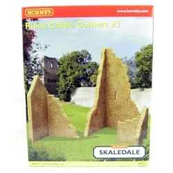 HORNBY R8724 OO 1/76 Ruined castle corners x 3