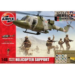 AIRFIX 50122 1/48 British Forces Helicopter Support Gift Set