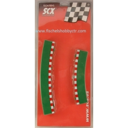 SCX 87960 R4 Outer Curve borders 4+4 int and ext Scalextric compatible