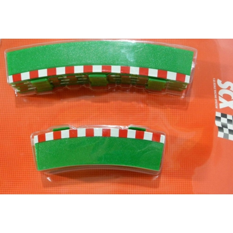 SCX 87950 R3 Outer Curve Borders 4+4 int and ext Scalextric compatible