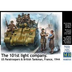 MasterBox MB35164 1/35 The 101th light company US Paratroopers & British Tankman