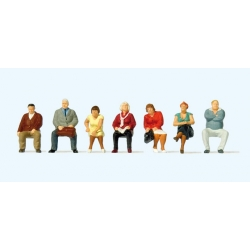 Preiser 10723 Figurines HO 1/87 Seated passengers