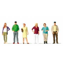 Preiser 10726 Figurines HO 1/87 Passagers ne Attente – Standing passers