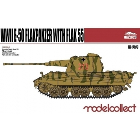 Modelcollect UA72020 1/72 German WWII E-50 Flakpanzer with Flak 55