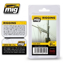AMMO BY MIG A.MIG-8016 Rigging Super Fine 0,01mm 2 Mètres – 2 Meters