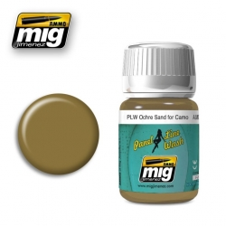 AMMO OF MIG A.MIG-1622 Lavis Panel Line Ocre - Wash Ochre For Sand Camo