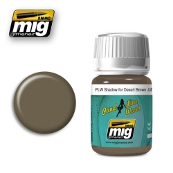 AMMO BY MIG A.MIG-1621 Lavis Panel Line Wash Shadow For Desert Brown