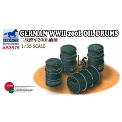 BRONCO AB3575 1/35 German World War 2 200ltr oil drums