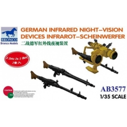 BRONCO AB3577 1/35 German Infrared Night -Vision Devices Infrarot -Scheinwerfer
