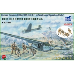 BRONCO CB35039 1/35 German Invasion Glider DFS-230 B-1 w/Paratroops (Operation Eiche)