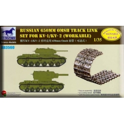 BRONCO AB3560 1/35 Russian 650mm OMSH Track Link Set for KV-1/KV-2 (workable)