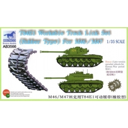 BRONCO AB3566 1/35 T84E1 Workable Track Link Set (Rubber) For M46/M47