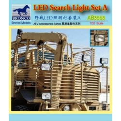 BRONCO AB3568 1/35 LED Search Light Set A