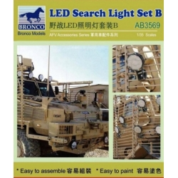 BRONCO AB3569 1/35 LED Search Light Set B