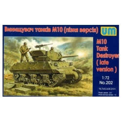 UNIMODELS 202 1/72 M10 Tank Destroyer (late version)