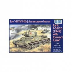 UNIMODELS 330 1/72 Tank T-34/76 With Formed Turret 1942