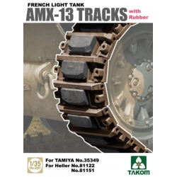 Takom 2061 1/35 French Light Tank AMX-13 Tracks with Rubber