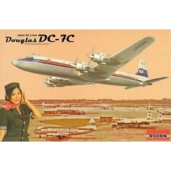 RODEN 303 1/144 Douglas DC-7C Japan Airlines