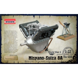 RODEN 622 1/32 Hispano-Suiza 8A British WWI 150 h.p. water-cooled engine
