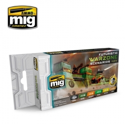 AMMO OF MIG A.MIG-7154 Futuristic Warzone Scenarios Color Set 6x17ml