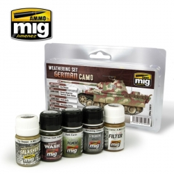 AMMO OF MIG A.MIG-7443 German Camouflage Weathering Set