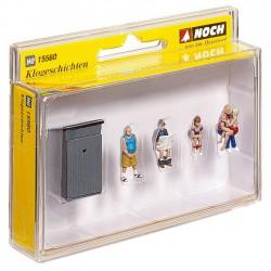 Preiser 10031 Figurines HO 1/87 Poseurs De Voies - Track workers
